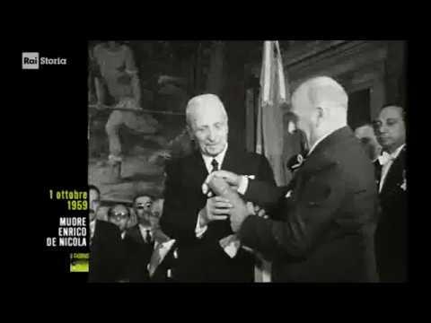 §.2/- (anniversari morte 1959) * 01 ottobre * biografia di Enrico De Nicola, Rai storia accadde oggi