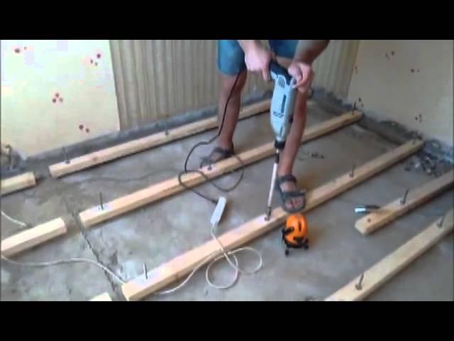 как сделать деревянный пол в частном доме