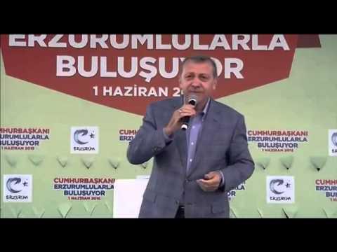 Cumhurbakan Erdoan Erzurum Bulumas  1 Haziran 2015   YouTube