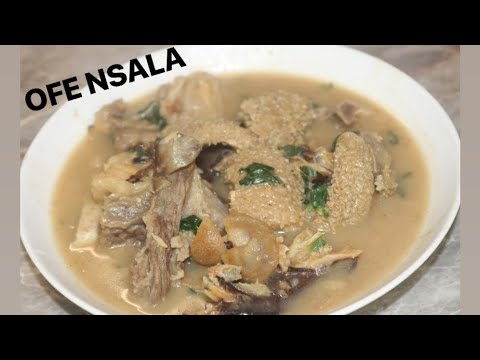 HOW TO COOK NIGERIAN WHITE SOUP AKA OFE NSALA😋