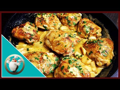 How To Make Creamy Garlic Chicken | Chicken With Creamy Garlic Sauce | Easy Chicken Recipe In 20 Min
