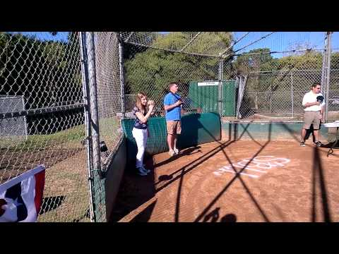 Brynn Forrester singing National Anthem at Solana Beach Little League Opening Day 2014