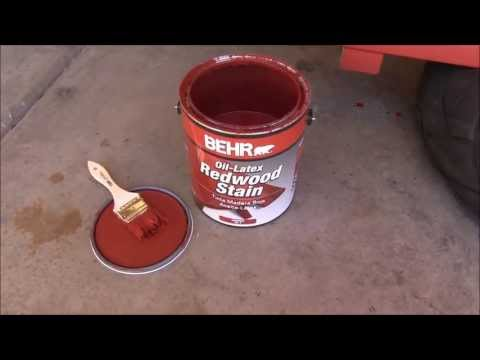 Latex or oil stain for deck