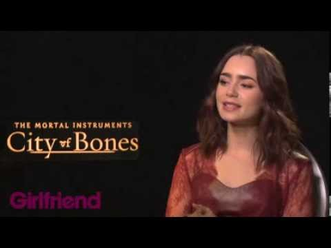 Girlfriend meets the cast of The Mortal Instruments: City Of Bones