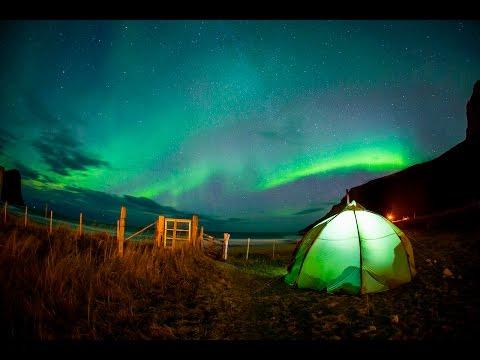 Imagine Surfing Under the Northern Lights