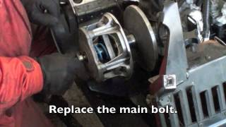 10. Changing a Snowmobile Primary clutch spring and weights for mod sled.