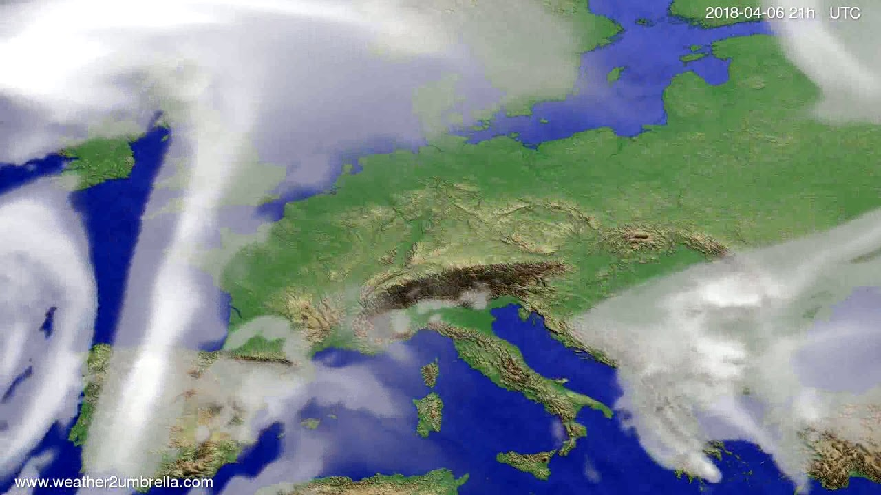 Cloud forecast Europe 2018-04-03
