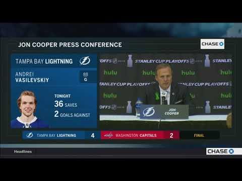 Jon Cooper -- Tampa Bay Lightning at Washington Capitals Game 3 05/15/2018
