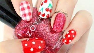 Cherry Picnic Nails - YouTube