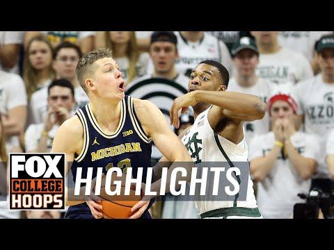 Michigan vs Michigan State | Highlights | FOX COLLEGE HOOPS