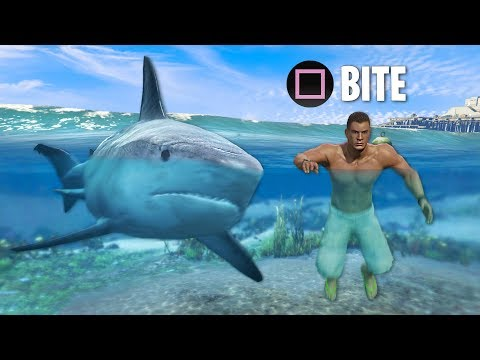 Play As JAWS/MAN EATER Shark!! GTA 5 Play As A Shark Mod Gameplay! (GTA 5 Mods)