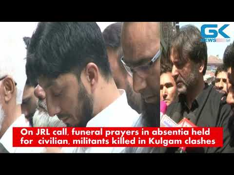 On JRL call, funeral prayers in absentia held for civilian, militants killed in Kulgam clashes