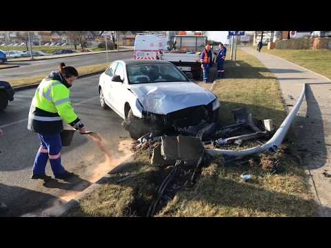 Wideo: Skosił latarnię w Lubinie
