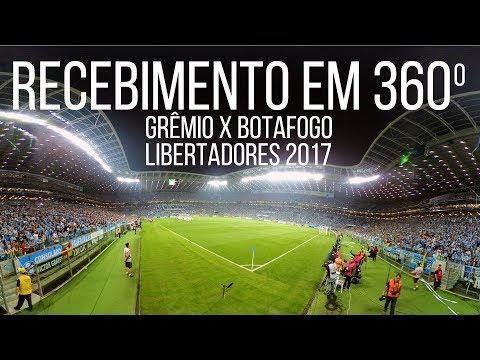 RECEBIMENTO EM 360º  - Grêmio x Botafogo - Geral do Grêmio - Grêmio