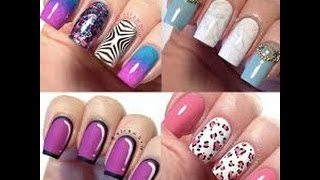 Watch  Easy Nail Art Water Marble For Short Nails, Black & White Swirl Nail Art Design Tutorial HowTo