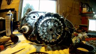 4. Yamaha Banshee Clutch Side Assembly Part 2 of 5