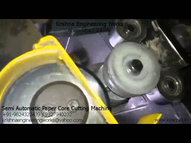 Semi Automatic Paper Core Cutting Machine – Krishna Engineering Works