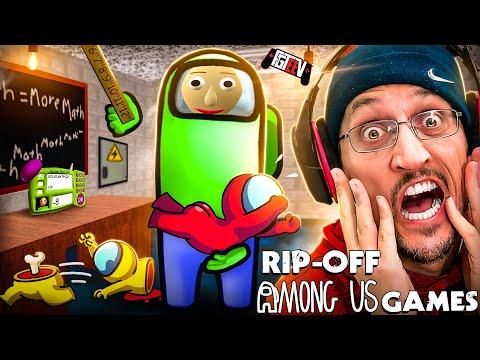 AMONG US Fake Mobile Games Compilation (FGTeeV Ripoff Review)