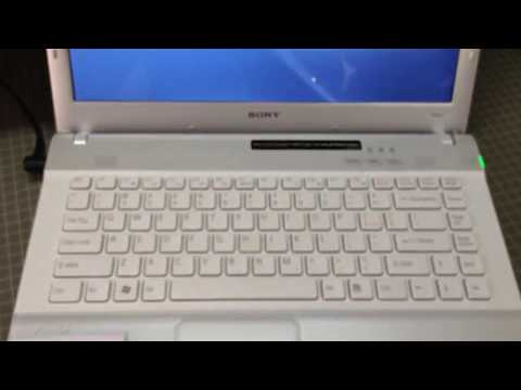 Sony vaio laptop Restore factory settings - Portugues