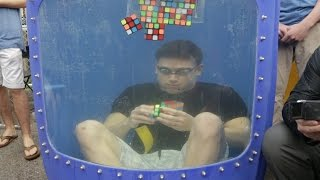 WashU's Kevin Hays crushes Rubik's Cube underwater record
