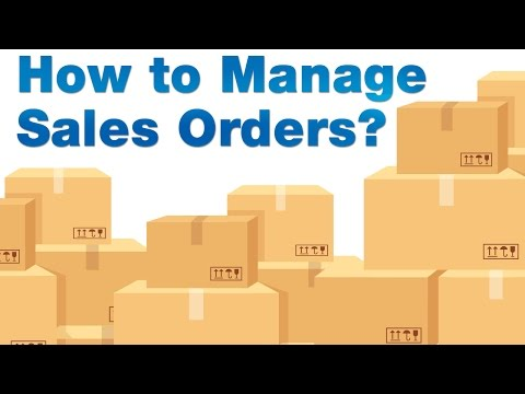ERP Tutorial - How to Manage Sales Orders?