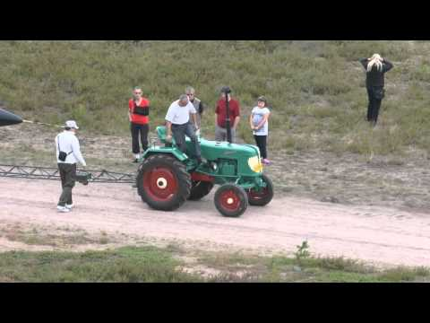 World's smallest tractor pulls...