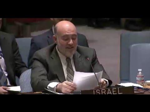Prosor at UNSC: 'And the Oscar goes to....'