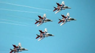 The Swifts [Стрижи] Russian Air Force Aerobatic Team @ MAKS Moscow Air Show