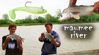 Fishing Vibes is now Fish Fray, I hope you all like the new style. Sorry for not uploading for 2 weeks, I just graduated high school! Hoping to squeeze in one more freshwater fishing video before I leave on a WEEKLONG TRIP TO THE OUTER BANKS FOR SOME CRAZY SALTWATER ACTION! Anyways, about this video...In this video, we were fishing the Maumee River at the tail end of the white bass run in late May. We caught a bunch of white bass, a big sheepshead, and even ran into a few buffalo carp on small chartreuse swimbaits and jigs. We were fishing the back side of bluegrass island. All and all, it was a fun couple of hours on the river. With all that being said...Thanks for watching!Subscribe to follow my life through fishing!  Follow my insta @fish.fray for bonus pics & edits!Music by Hanz:https://soundcloud.com/hanzbeats/akay-x-hanz-feelingshttps://soundcloud.com/hanz2/im-in-a-block-rn