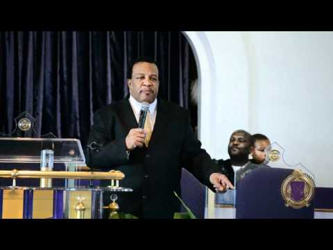 Bishop GJ McIver at Sherman Memorial COGIC