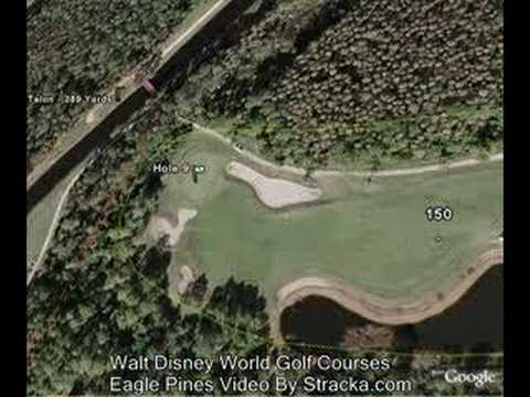 """Walt Disney World Golf Courses (Eagle Pines)"" Flyover Tour"
