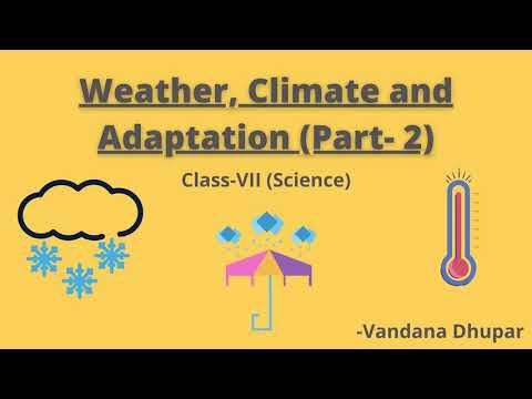 Weather, Climate and Adaptation (Part-2)// Class-VII Science