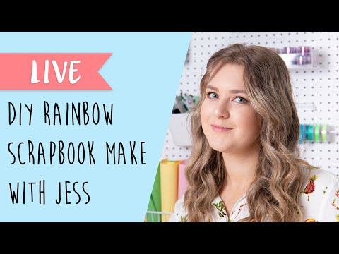How To Craft A Rainbow Scrapbook Page With Sizzix - Sizzix