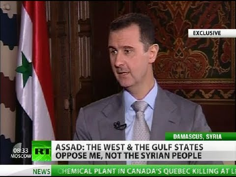 syrian president - In an exclusive interview with RT, Syrian President Bashar Assad said that Syria is not going through a civil war, but rather a different kind of war -- terr...