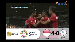 Video Chinese Taipei 0 vs 4 Indonesia | Full Highlights Sepak Bola Asian Games 2018 MP3, 3GP, MP4, WEBM, AVI, FLV Agustus 2018