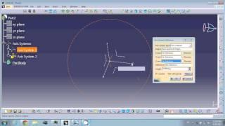 Catia V5 Axis System, Position sketch and formulas
