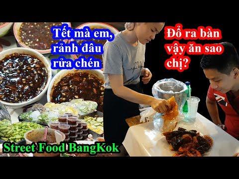 Choáng với street food Thái lan đổ thẳng đồ ăn xuống bàn cho khách bốc ăn vì tết quá đông - Thời lượng: 27 phút.