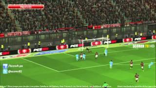 AC Milan Vs Napoli - Jornada 4 Serie A Calcio Italiano 2013/2014 - Simulacion PES 2014