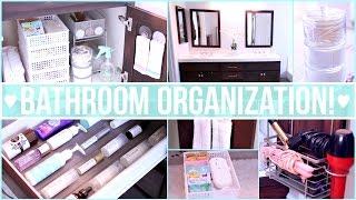 Bathroom Organization Ideas ♡ Dollar Store Organization