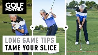 ► Watch this video with Golf Monthly Top 25 Coach Peter Dawson to see his thoughts on ball position, alignment and knee flex when trying to cure a slice ► Become a FREE SUBSCRIBER to Golf Monthly's YouTube page now - https://www.youtube.com/golfmonthly► For the latest reviews, new gear launches and tour news, visit our website here - http://www.golf-monthly.co.uk/► Like us on Facebook here - https://www.facebook.com/GolfMonthlyMagazine►Follow us on Twitter here - https://twitter.com/GolfMonthly►Feel free to comment below! ►Remember to hit that LIKE button if you enjoyed it :)