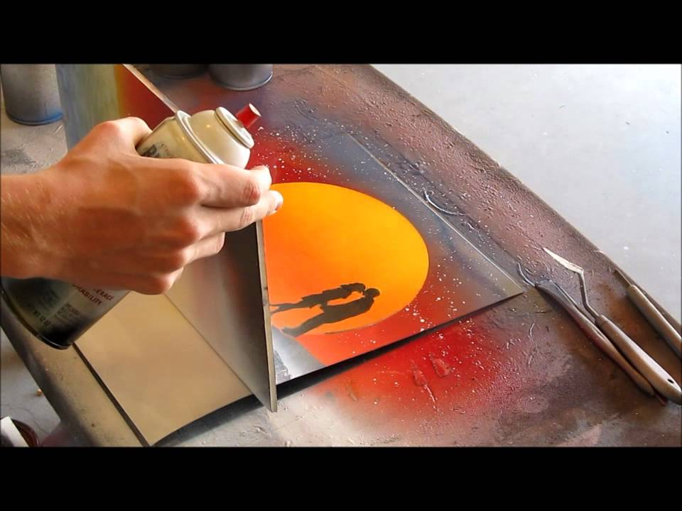 Spray Speed Painting Art by Ben Rabine