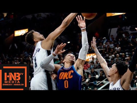Oklahoma City Thunder vs San Antonio Spurs Full Game Highlights / March 29 / 2017-18 NBA Season (видео)