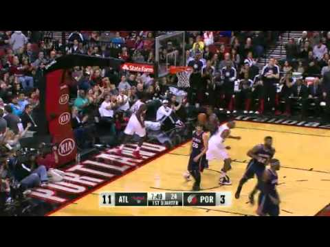 Batum to JJ Hickson for the dunk on Hawks