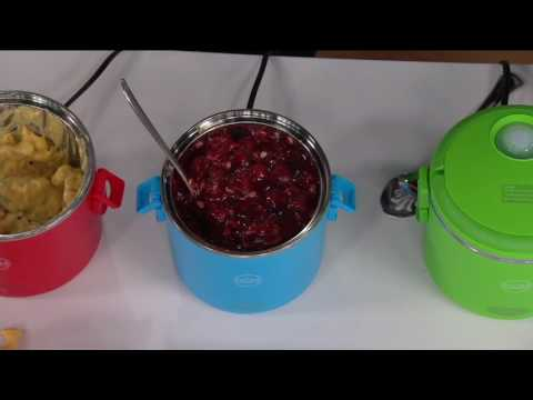 Electric Portable Cooker w/ Steamer Insert on QVC