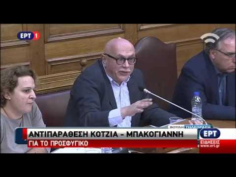 Δήλωση Ντ. Μπακογιάννη στην Βουλή