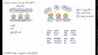 Past irregular verbs 3 bring-brought, buy-bought