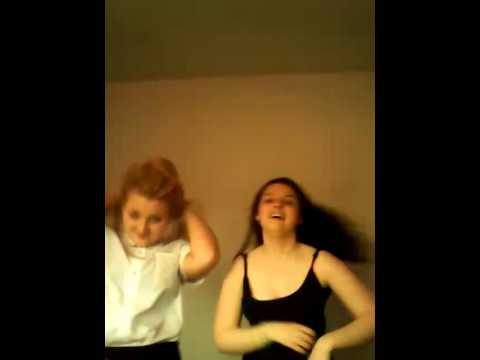 Rebecca and cacey dancing lol not xxx