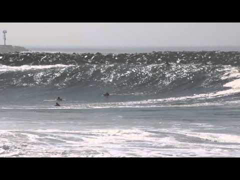 Beach - Big waves at The Wedge at the Balboa Peninsula in Newport Beach, CA on 8/27/14.