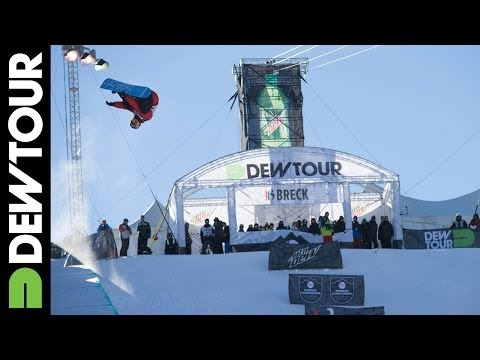 Greg Bretz - Greg Bretz gets wild during Snowboard Superpipe Qualifier, watch as he loses his phone during the run on a huge backside 900! Subscribe to the Dew Tour chann...