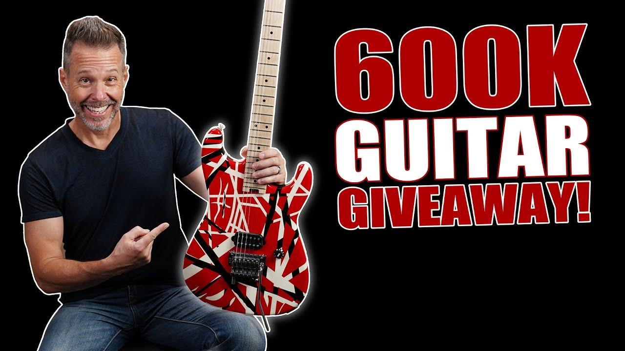 600K Guitar Giveaway! Thank You!